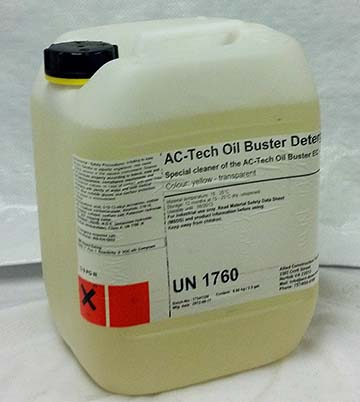 AC•Tech Oil Buster System™ - Detergent Binds With Organic Contaminants In Concrete