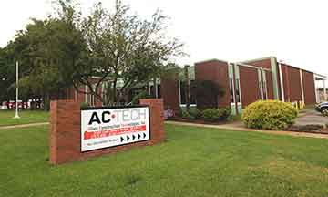 AC•Tech's 24,000 sq ft office and warehouse facility at 3302 Croft Street Norfolk Va 23513