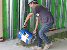 ACTECH 2170 Epoxy Moisture Mitigation Alkalinity Concrete Substrate Commercial Flooring Prep
